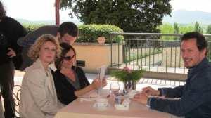 Margherita Buy, Stefano Accorsi e la regista Maria Sole Tognazzi sul set di Viaggio Sola