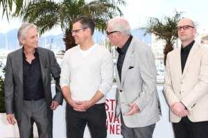 Michael Douglas, Matt Damon, Jerry Weintraub e Steven Soderbergh | © Andreas Rentz/Getty Images