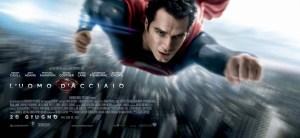 Henry Cavill è Superman nel banner italiano de L'uomo d'acciaio