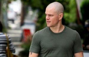Matt Damon in un'immagine promozionale di Elysium, nuovo film di Neill Blomkamp