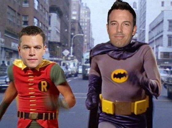 L'ironia del web: Matt Damon e Ben Affleck nei panni di Robin e Batman