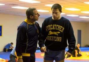 """Carell e Tatum in una scena del film """"Foxcatcher"""""""