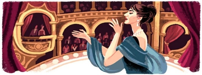 Il doodle dedicato a Maria Callas