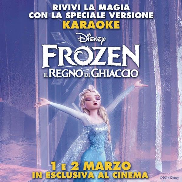 Frozen - Il regno di ghiaccio in versione karaoke
