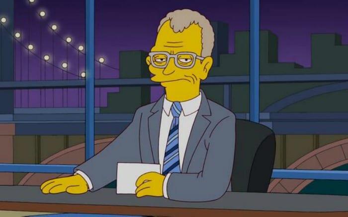David Letterman omaggiato da I Simpson