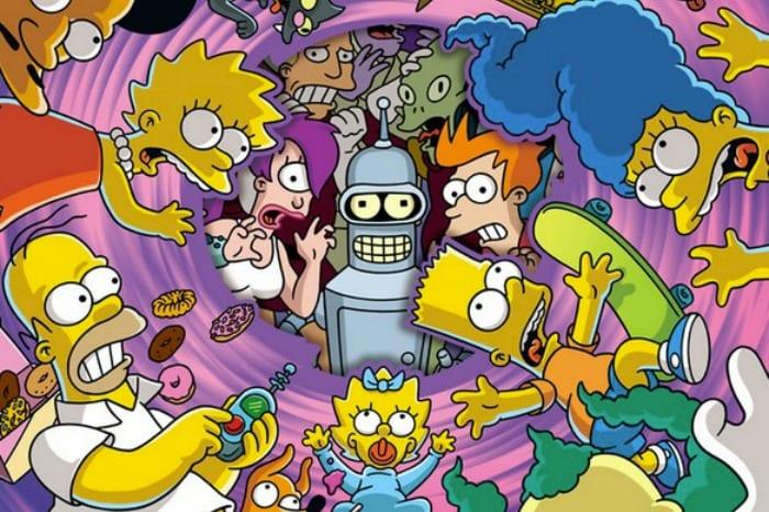 Il crossover Simpson-Futurama