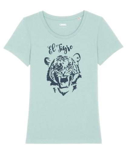 100% Organic T-shirt with Tiger graphic El Tigre