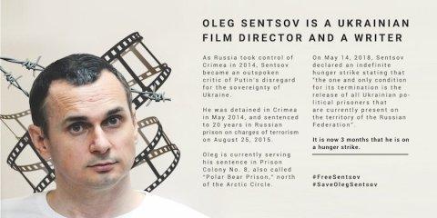 Mardi 14 août Oleg Sentsov: 3 mois sans nourriture