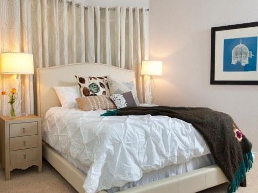 La camera dopo la cura, molto più minimale e ariosa