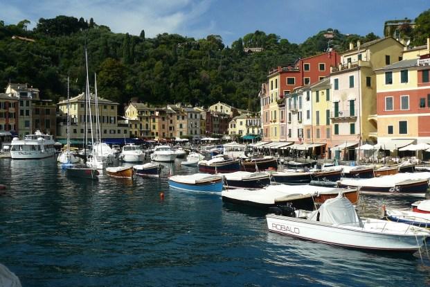 Bateau à quai à Portofino