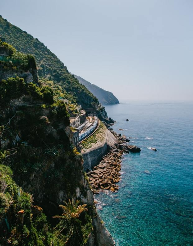 Train dans les Cinque Terre
