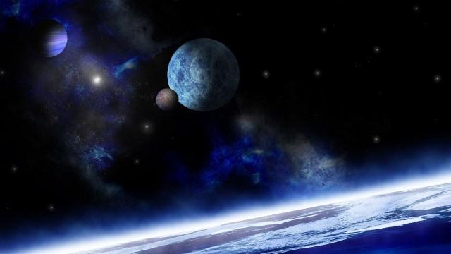 Planète, annoncant de par son horizon, l'aube d'un renouveau et d'un exploration spatiale. L'ouverture du cosmos !