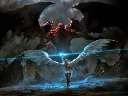 wallpaper-angel-vs-horrible-diablo