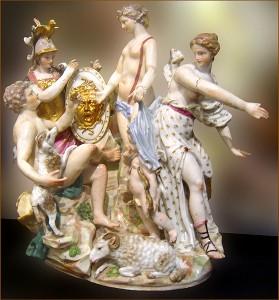 Il giudizio di Paride, porcellana di Capodimonte, Musei Capitolini, Roma