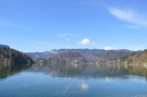 Lago di Bled con vista sull'isolotto