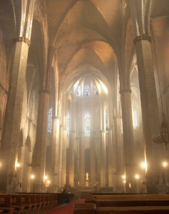Interno Basilica Santa Maria del Mar, Barcellona