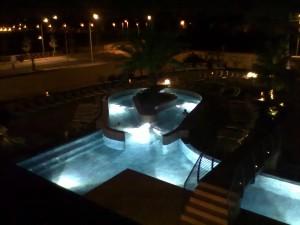 Centro Benessere Asmana, veduta notturna piscina
