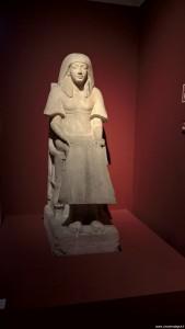 Bologna, Mostra Egizi, statua di Maya