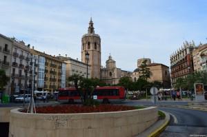 Valencia, Plaza de la Reina con la Cattedrale