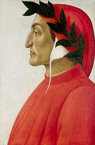 Dante, ritratto di Sandro Botticelli, olio su tela del 1495, Ginevra, collezione privata
