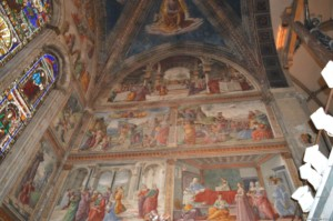 Firenze, Basilica di Santa Maria Novella, affreschi dell'abside