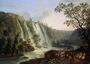 La villa di Mecenate a Tivoli in un dipinto del 1783