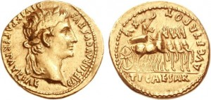 Monete d'oro Impero Romano epoca Imperatore Augusto