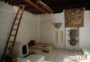 Catal Huyuk, interno abitazione, ricostruzione storica