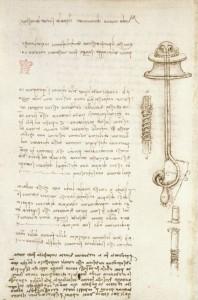Codice Arundel di Leonardo da Vinci, una pagina
