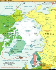 Mappa regione artica