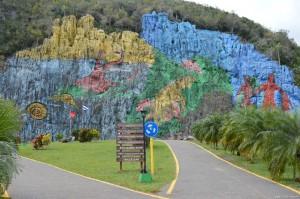 Cuba, Parco naturale di Vinales, murales della Preistoria