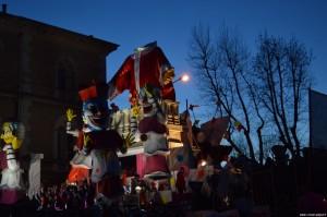 Fano, Carnevale 2016, carro illuminato