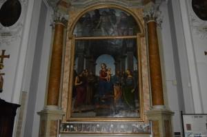 Fano, Pala di Fano (1457), dipinto del Perugino, Chiesa di Santa Maria Nuova