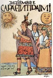 Rappresentazione di una antica festa di celebrazione del Dio Sole, Inti Raymi