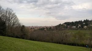 Parco di Villa Spada, veduta panoramica su Bologna