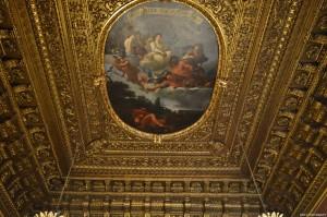 Palazzo Reale Torino, soffitto di una stanza