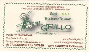 Ristorante Il Grillo, indirizzo e recapiti telefonici