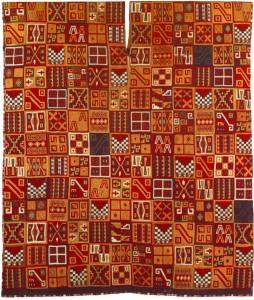 Tessuto inca con i tipici disegni geometrici