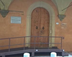 Bologna, Casa Morandi, via Fondazza, 36, ingresso