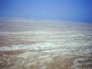 Masada, Israele, veduta dalla fortezza sul deserto ed il Mar Morto