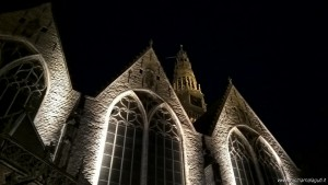 Amsterdam, Oude Kerk by night