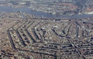 Amsterdam, foto aerea del centro storico