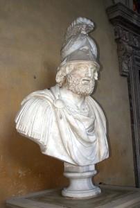 Busto marmoreo raffigurante Pirro (Firenze, Palazzo Pitti)