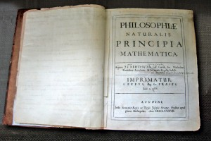 Frontespizio saggio sulla gravitazione universale di Isaac Newton, Principia