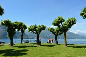 Lago di Como, Bellagio, panoramica dalla punta del promontorio