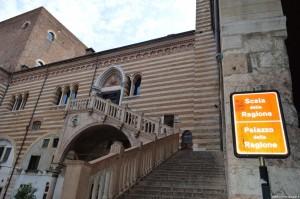 Verona, Palazzo della Ragione, scalinata rinascimentale