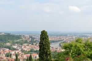 Verona, panoramica sulla città dal Santuario della Madonna di Lourdes