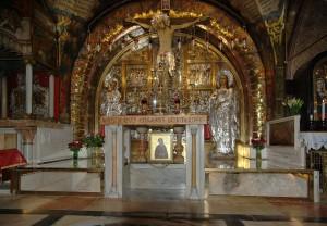 Gerusalemme, Basilica del Santo Sepolcro, Altare della crocifissione