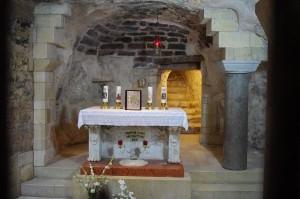 Nazareth, Basilica dell'Annunciazione, la grotta dell'Annunciazione