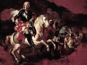 Trionfo di Carlo di Borbone nella battaglia di Velletri, F. Solimena, 1744, Reggia di Caserta